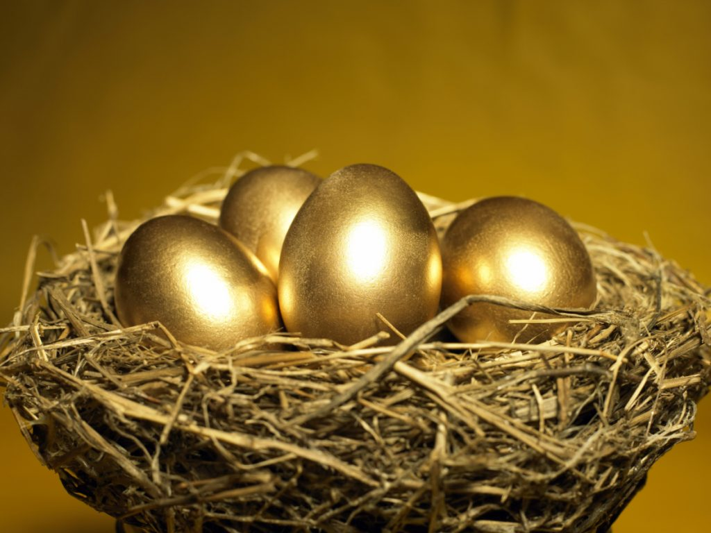 Golden eggs in retirement nest